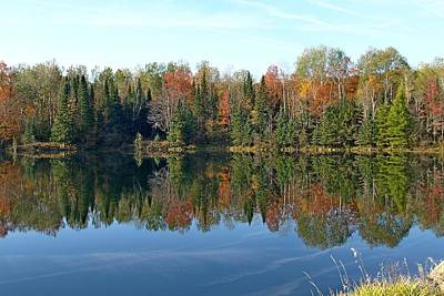 Legends Of The Fall Photograph - Rugg Pond Near Kalkaska Michigan by Dave Zuker