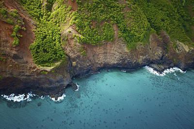 Rugged Kauai Coastline Art Print by Kicka Witte