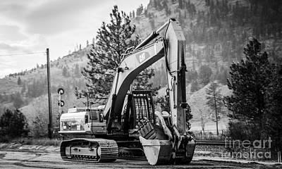 Artist Working Photograph - Rugged Iron Excavator by Alanna DPhoto