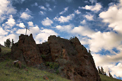 Photograph - Rugged Mountain Cross by Lana Trussell
