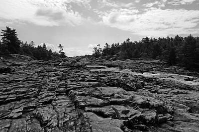 Photograph - Rugged Terrain In Black And White by Debbie Oppermann