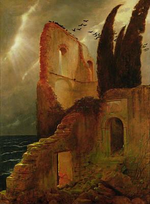 Ruin By The Sea, 1881 Art Print by Arnold Bocklin