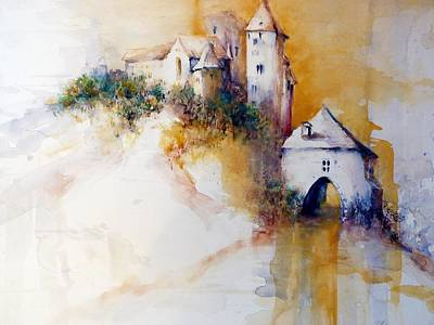 Painting - Ruin Hardegg Lower Austria by Christa Friedl