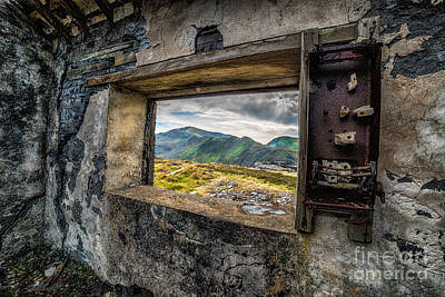 Slate Photograph - Ruin With A View  by Adrian Evans