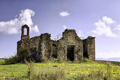 Photograph - Ruined Chapel In Tuscany by Fran Gallogly