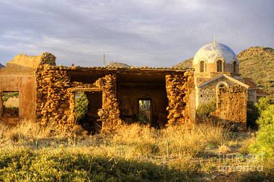 Photograph - Ruined House And Monasteraki Near Sounion by Deborah Smolinske