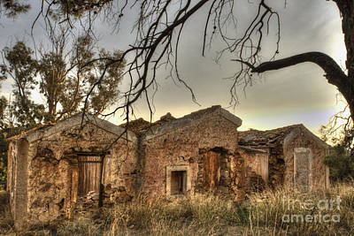 Photograph - Ruined Sounion House 2 by Deborah Smolinske
