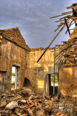 Photograph - Ruined Sounion House 4 by Deborah Smolinske