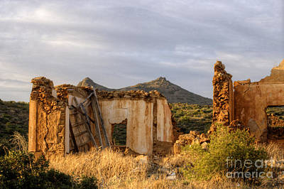 Photograph - Ruined Sounion House 9 by Deborah Smolinske
