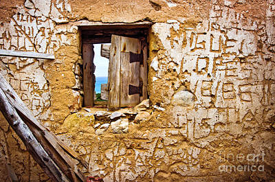 Vandalize Photograph - Ruined Wall by Carlos Caetano