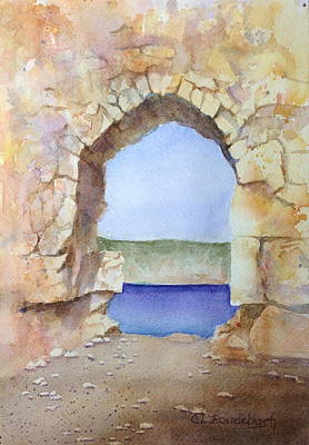 Painting - Ruins At Adana by Cynthia Roudebush