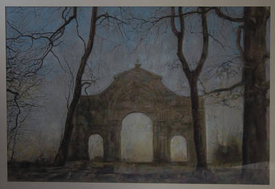 Ruins In A Place Called Heaven Gate Art Print by Paez  Antonio