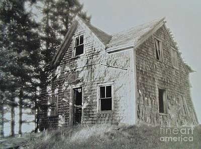 Digital Haunted House Photograph - Ruins by John Malone