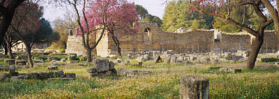 Ancient Greek Architecture Photograph - Ruins Of A Building, Ancient Olympia by Panoramic Images