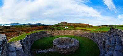 Ruins Of A Fort, Cahergall Stone Fort Art Print by Panoramic Images