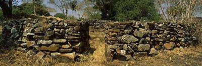 Ancient Civilization Photograph - Ruins Of A Stone Wall, Thimlich Ohinga by Panoramic Images
