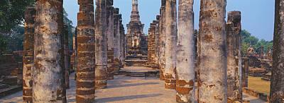 Ruins Of A Temple, Sukhothai Historical Art Print