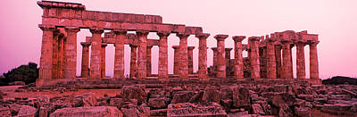 Hera Photograph - Ruins Of A Temple, Temple E, Selinunte by Panoramic Images