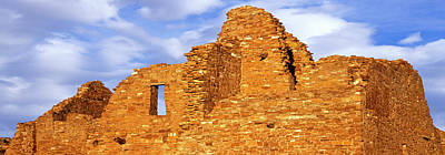 Chaco Photograph - Ruins Of A Wall, Pueblo Del Arroyo by Panoramic Images