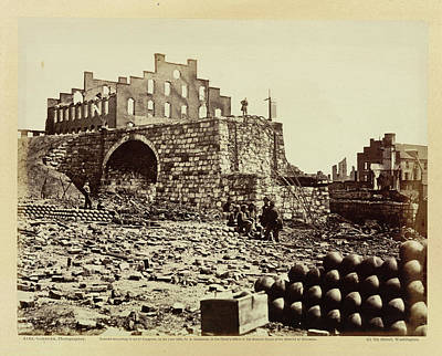 Civil War Battle Site Photograph - Ruins Of An Ammunition Store by British Library