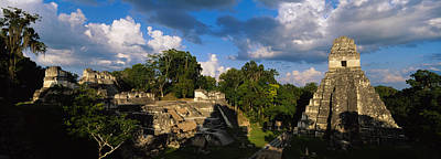 Ancient Civilization Photograph - Ruins Of An Old Temple, Tikal, Guatemala by Panoramic Images
