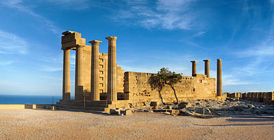 Photograph - Ruins Of Ancient Doric Temple In Lindos by Gurgen Bakhshetsyan