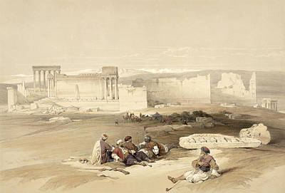 Temple Drawing - Ruins Of Baalbec, May 5th 1839, Plate by David Roberts
