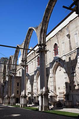 Ruins Of Carmo Convent In Lisbon Art Print by Artur Bogacki
