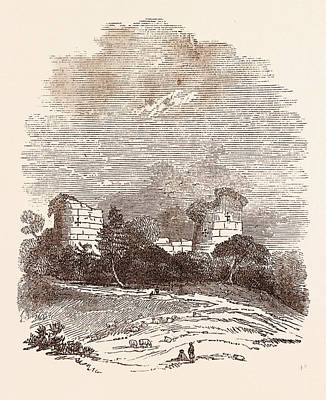 Ruins Of Chartley Castle, Once Possessed By Robert Print by English School