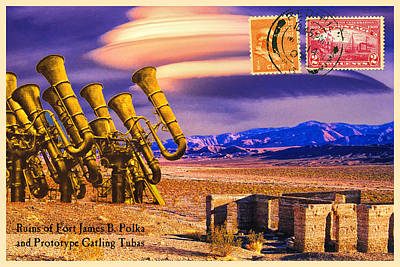 Ruins Of Fort James B. Polka And Prototype Gatling Tubas Art Print