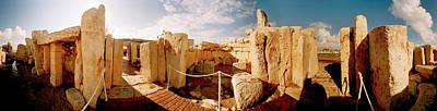 Ancient Civilization Photograph - Ruins Of Ggantija Temples, Gozo, Malta by Panoramic Images