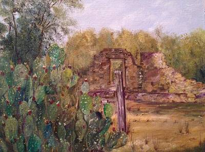 Painting - Ruins Of Mission Espada by Cheryl Damschen