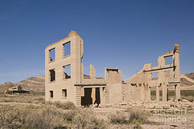 Tonopah Photograph - Ruins Of Old Cook Bank Building by Ellen Thane