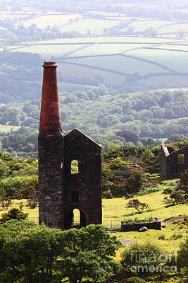 Bodmin Photograph - Ruins Of Phoenix United Mine Cornwall by James Brunker