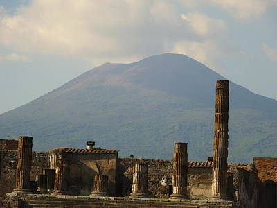Photograph - Ruins Of Pompeii And Mt Vesuvius by Alan Lakin