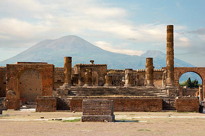 Ruins Of Pompeii Art Print