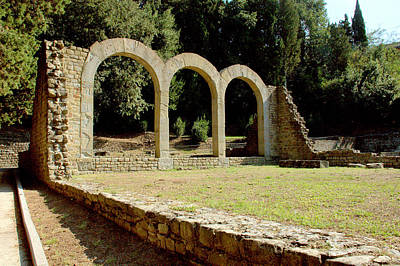 Photograph - Ruins Of Roman Baths Fiesole by Caroline Stella