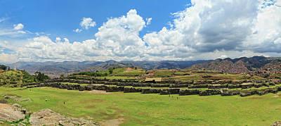 Cusco Photograph - Ruins Of Saksaywaman Citadel Historic by Panoramic Images