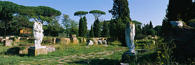 Ruins Of Statues In A Garden, Ostia Art Print by Panoramic Images