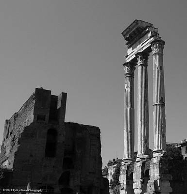 Photograph - Ruins Of Temple Of Castor And Pollux by Kathy Ponce