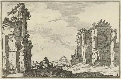 Ruins Of The Baths Of Caracalla, Rome, Italy Art Print by Artokoloro