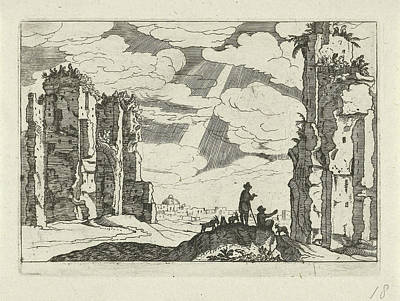 Ruins Of The Baths Of Caracalla, Willem Van Nieulandt II Art Print by Willem Van Nieulandt (ii) And Anonymous