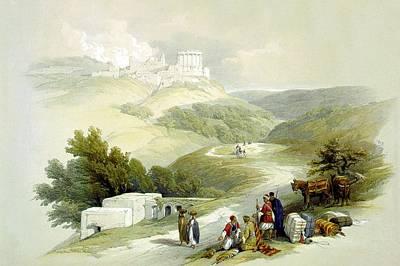 Photograph - Ruins Of The Church Of St. John Sabaste 1839 by Munir Alawi