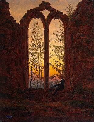 Monastery Painting - Ruins Of The Oybin Monastery The Dreamer by Philip Ralley