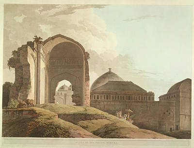 Illustration Technique Photograph - Ruins Of The Palace by British Library