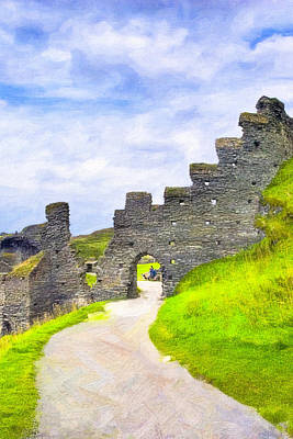 Photograph - Ruins Of Tintagel Castle - Cornwall by Mark E Tisdale