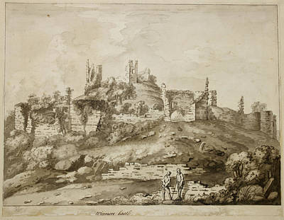 Indian Ink Photograph - Ruins Of Wigmore Castle by British Library