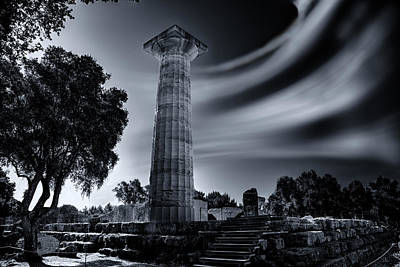 Print featuring the photograph Ruins Of Zeus's Temple At Olympia by Micah Goff