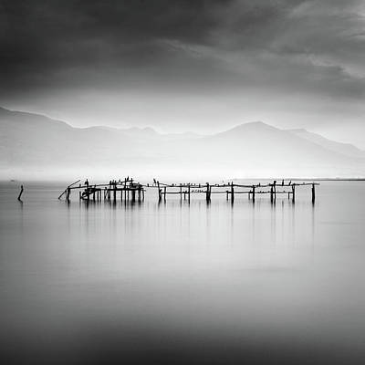 Pier Wall Art - Photograph - Ruins With Birds II by George Digalakis