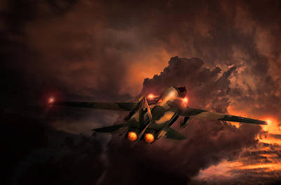 Fighters Digital Art - Rule The Night F-111 by Peter Chilelli